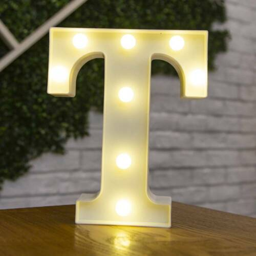 Alphabet LED Light Letter Light Up Plastic Lamp Birthday Wedding Party Decor New