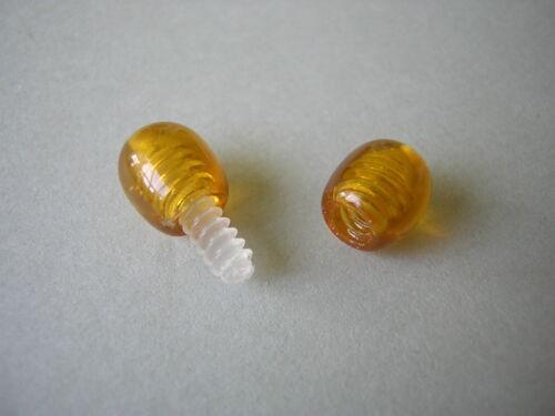 10 x Honig Ambroid Pressbernstein Drehverschluß für Bernsteinketten 1,7 x 0,7 cm