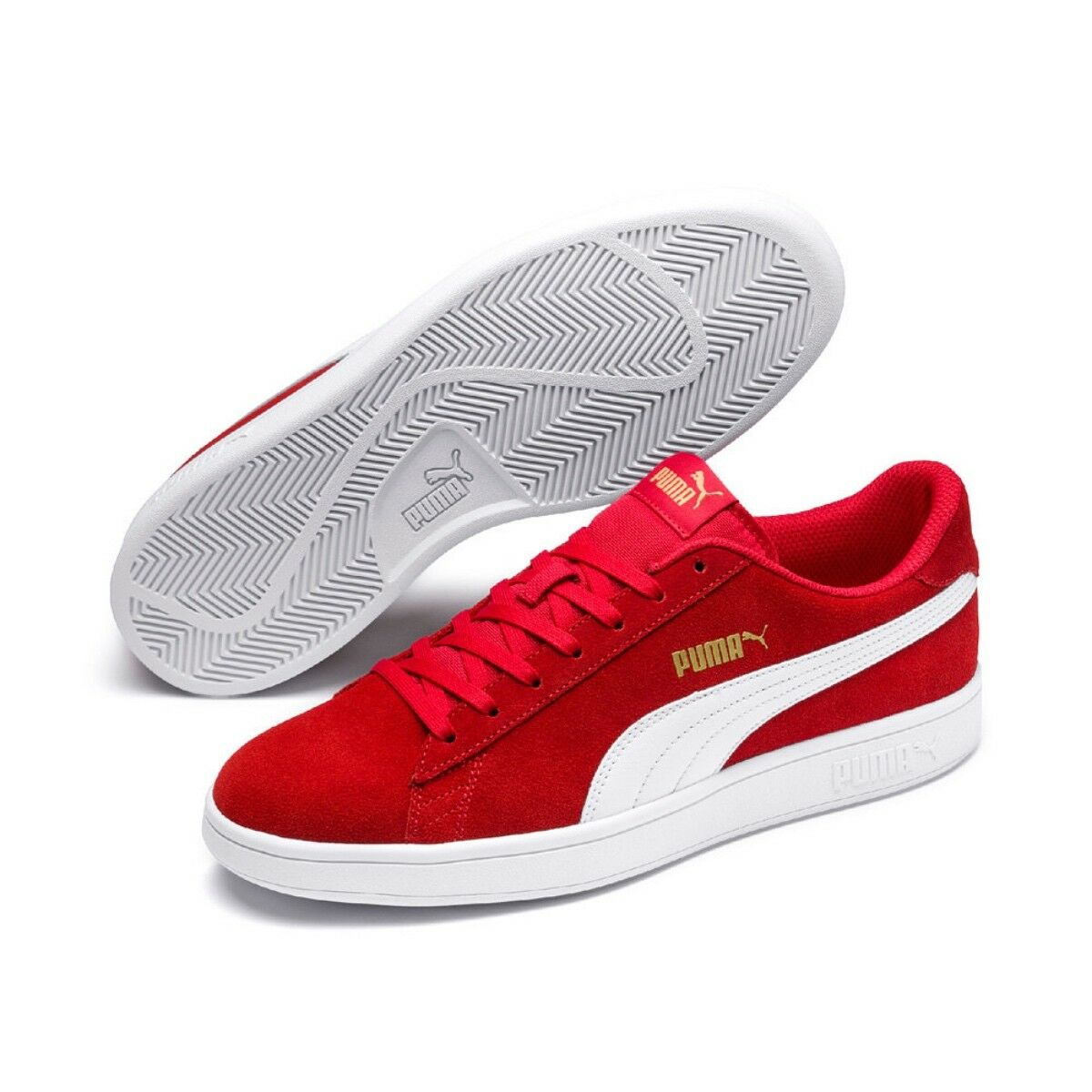 Puma Smash v2 Unisex Erwachsenen Sneaker Turnschuhe Retro 364989 High Risk Red