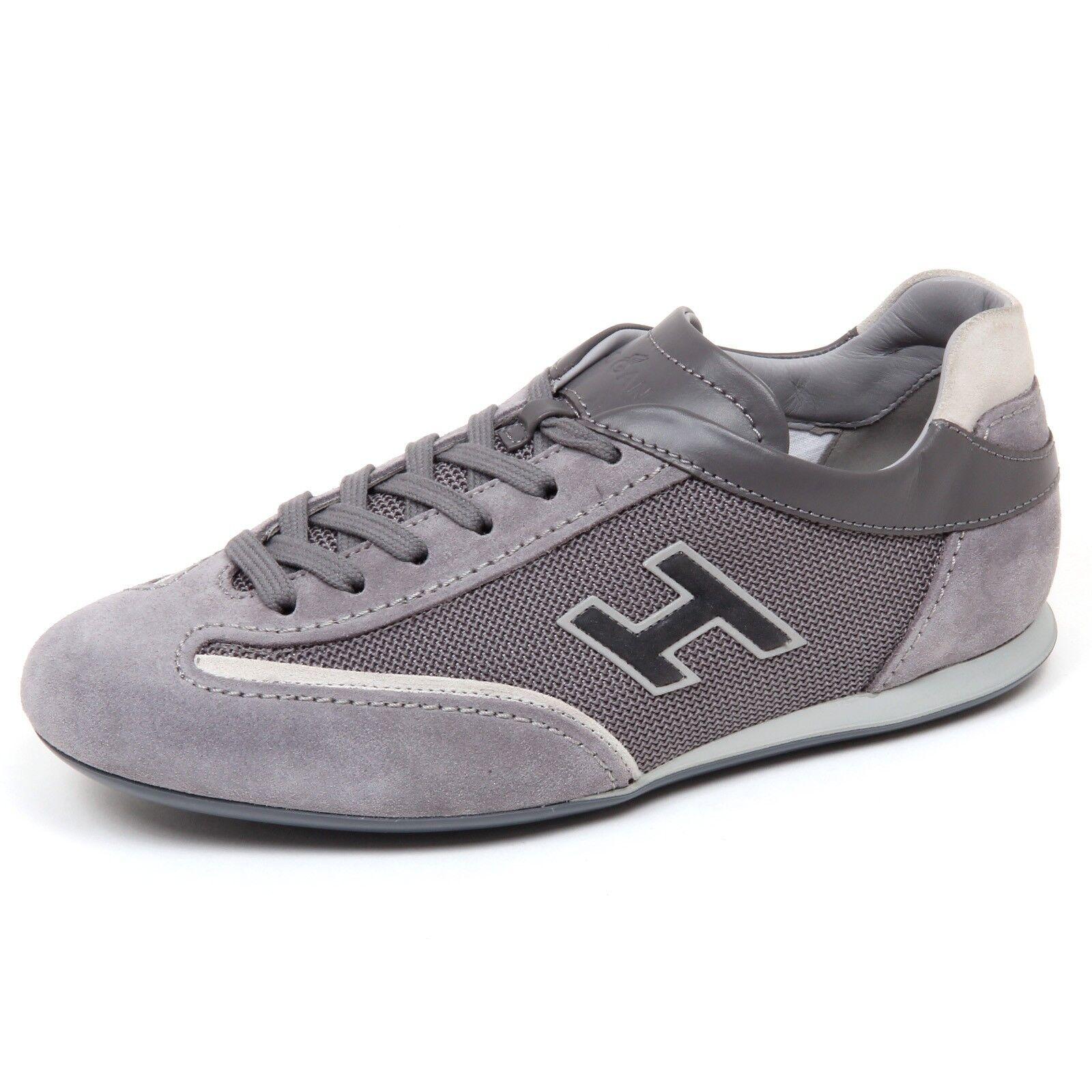 E9070 sneaker uomo grey HOGAN OLYMPIA scarpe slash H flock shoe man