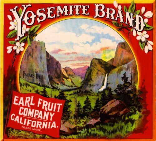 Los Angeles Yosemite Orange Citrus Fruit Crate Label Art Print