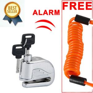 Motorcycle-Bike-100DB-Alarm-Security-Brake-Disc-Wheel-Lock-Safety-Remind-Cable