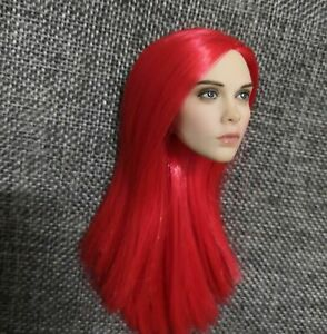 1-6-Female-Red-Straigt-Long-Hair-PVC-Sculpt-Carved-Model-Fit-12-034-PH-Body-Toys