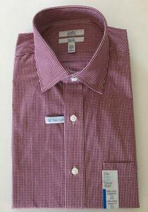 Men/'s Croft /& Barrow Classic Fit Cotton Blend Short Sleeve Dress Shirt NWT