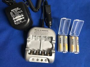 One-set-of-AC-DC-12v-Car-Charger-4-AA-Rechargeable-2-5Ah-4-battery-Cases-UL
