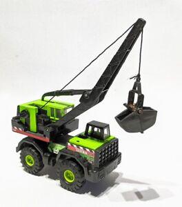 Maisto-Tonka-Hasbro-Mighty-Mini-Crane-truck-758-Lime-Green-1-64-diecast-1998