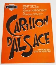 Partition sheet music ANDRE VERCHUREN : Carillon d'Alsace * Accordeon