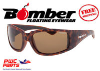 Bomber Polarized Floating Sunglasses Stink Bomb Tortoise W/ Brown Lens Stp102