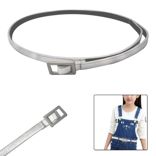 10mm Shiny Silver Kids Waist Belt Girls Fashion Formal Casual Daily Party Dress