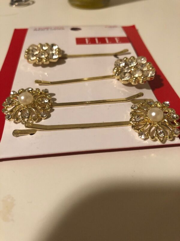 Elle 4pc Bobby Pin - 43849 ❤️ Brand New ❤️ 100% Authentic Selected Material