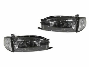 depo 92 93 94 toyota camry black crystal headlight headlamp corner light 4p. Black Bedroom Furniture Sets. Home Design Ideas