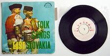 "ONE 1963'S 45 R.P.M. RECORD, FOLK SONGS FROM EAST SLOVAKIA, ENSEMBLE ""SLUK"" +"