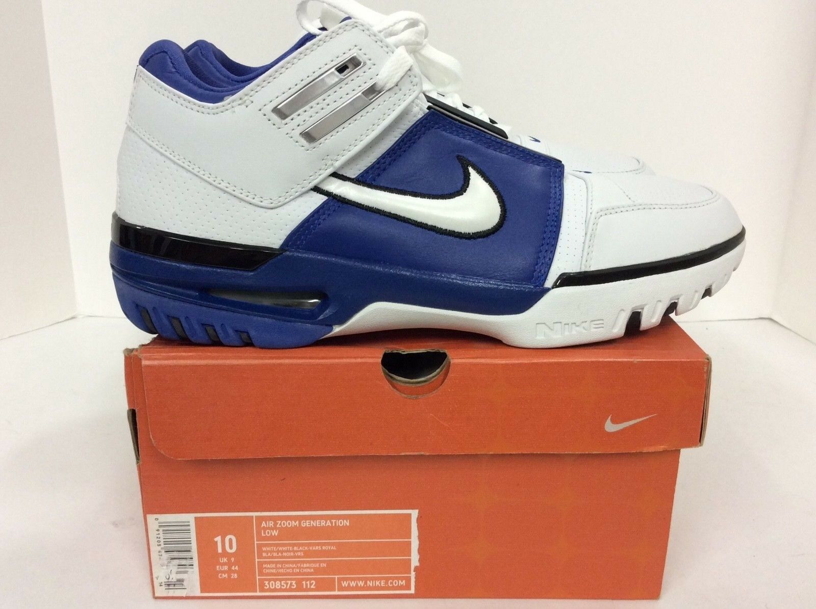fbed6873a2a Nike Mens Air Zoom Generation Low size 10 LeBron LeBron LeBron James Style  bfb383