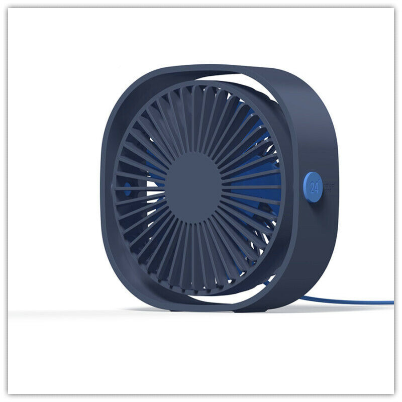 Shentesel Mini Desk Fan Home Office Electric Table Air Cooler with Phone Holder Portable Black