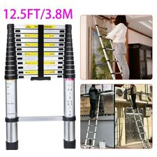 125ft Portable Extendable Heavy Duty Multi Purpose Aluminium Telescopic Ladder