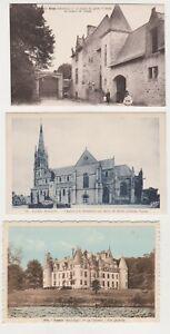 lot 9 Cartes Postales ELVEN eglise chateau Largoet chateau TREDION -port gratuit