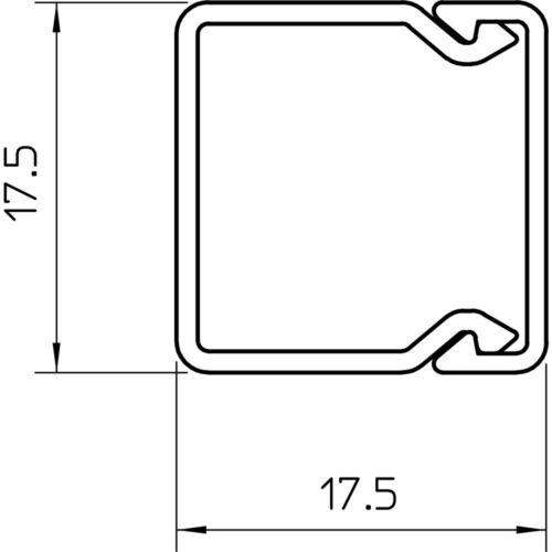 OBO Bettermann WDK20020RW WDK-Kabelkanal PVC reinweiß 20x20x2000mm