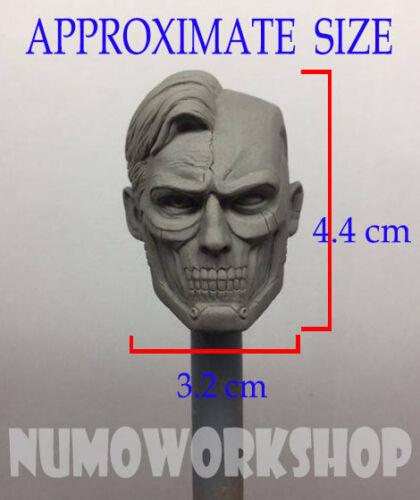 "1//6 Scale CUSTOM UNPAINT HEAD for 12/"" Body Figure Cyborg Superman Injustice ver"