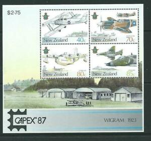 1987-New-Zealand-Air-Force-Capex-Unmounted-Mint-M-S-Stamp-Set-UK-Seller