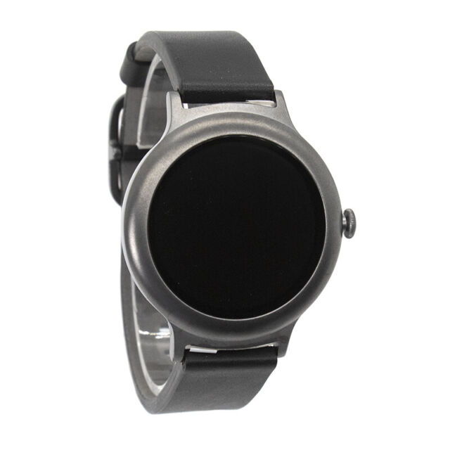 LG Watch Style W270 Titanium Stainless Steel Black Classic Buckle - LGW270T