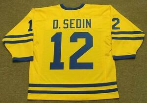 Image is loading DANIEL-SEDIN-Team-Sweden-Nike-Vintage-Throwback-Hockey- ccbae0fd7