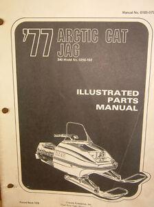 SNOWMOBILE-1977-JAG-ARCTIC-CAT-PARTS-MANUAL-VINTAGE-340-OEM-0250-102