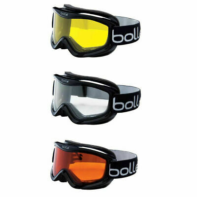 New Bolle Mojo Ski Goggles Shiny Black Frame - Choice of color lens