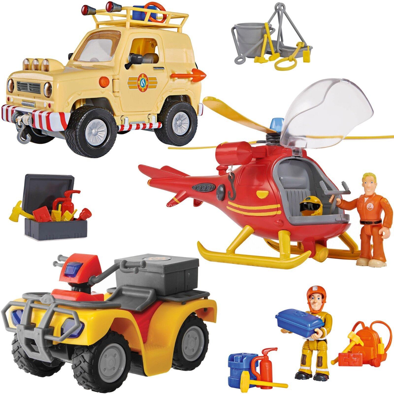 Feuerwehrmann Sam Wallaby + Mercury Quad + Tom´s 4x4 Geländewagen Figuren Tom