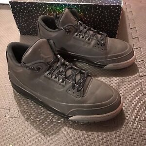 45e4416f465b Nike Air Jordan 5Lab3 631603 010 US Men s Sz 10.5 Black 3M