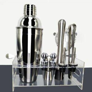 Bartender Kit Professional Cocktail Shakers Stainless Steel Bar Tools Rack Frame