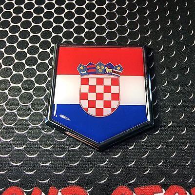 Croatia Flag Croatian Emblem Chrome Car Decal Sticker 3D Badge