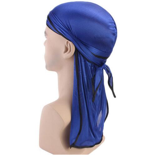 Mens Lady Silk Durag Bandana Headwear Du-Rag Scarf Head Wrap Soft Hair Cover Cap