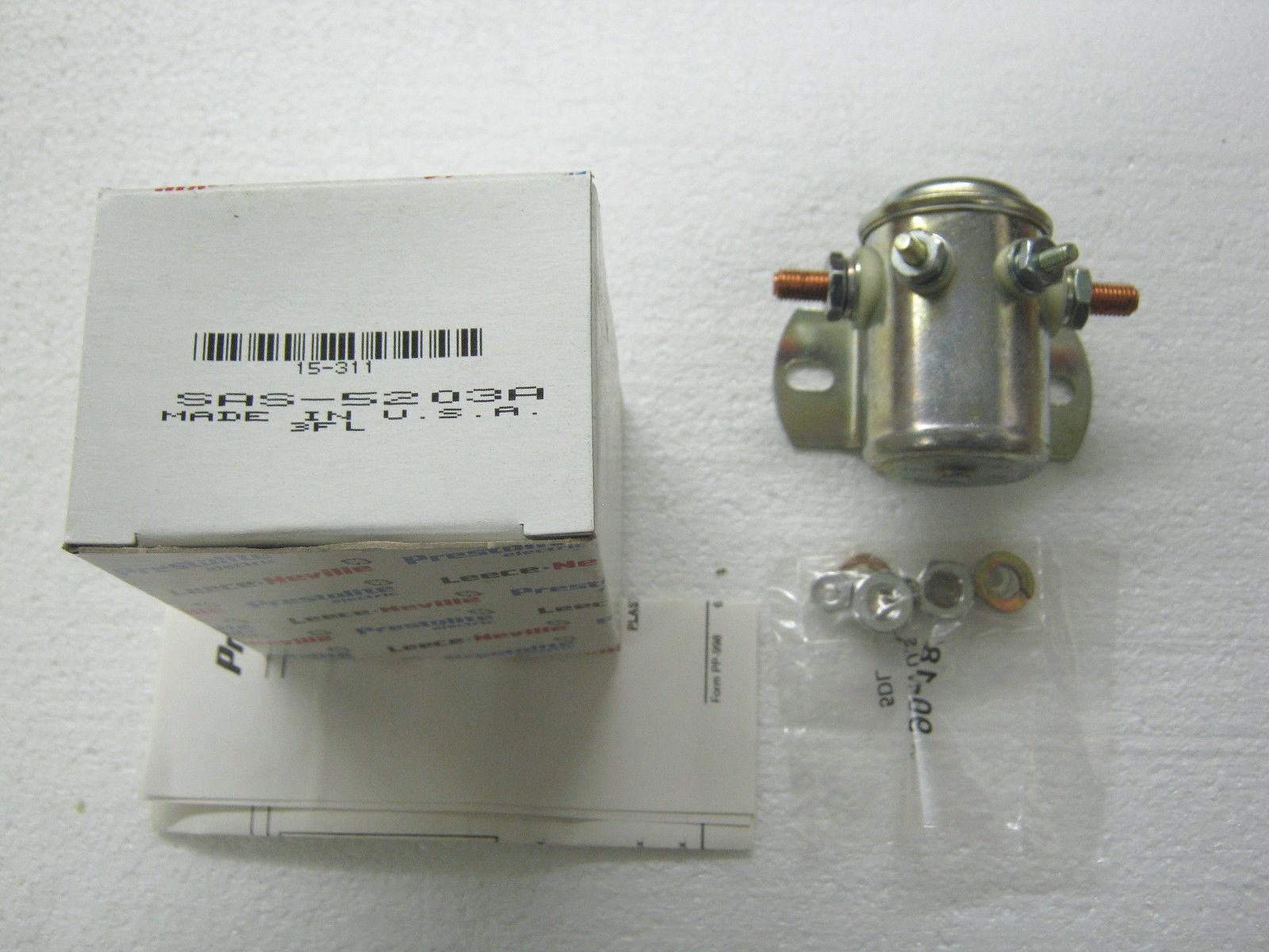 Image 1 - Prestolite 12V Solenoid, 15-311 (SAS-5203A), Continuous, Single Pole, NOS