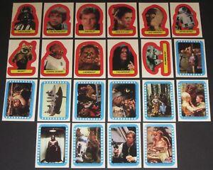 Star-Wars-Jedi-Series-2-Complete-22-Card-Sticker-Set-1983-Topps-NM