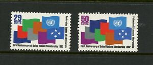 U847-Micronesia-1992-Admission-To-un-Flags-2v-MNH
