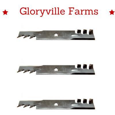 "USA Mower Blades® High Lift for Husqvarna® 539-113425 539113425 48/"" Deck 3"