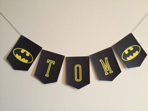 Batman Garland Personalised ideal for parties bedrooms handmade to order