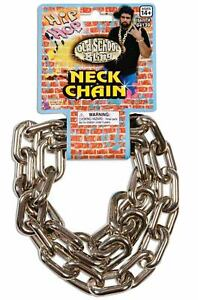 80/'s 90/'s Big Links Hip Hop Rapper Chain Silver