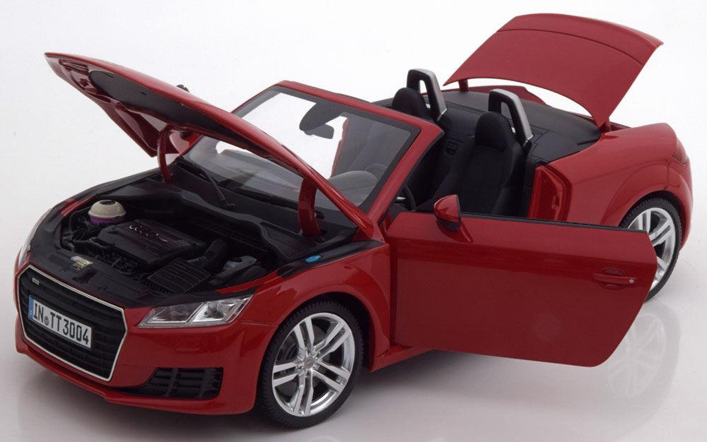 Minichamps 2014 Audi Tt Roadster Rot Händler Edition 1 18 Maßstab Neu  Im Lager