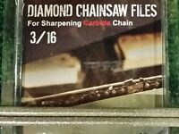 3/16 Diamond Chainsaw File 3/16 For Carbide Chain 2 Pack