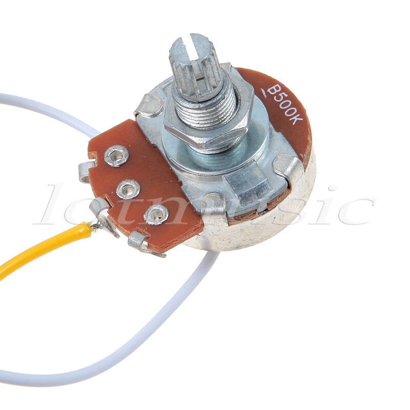 guitar wiring harness with 2 volume 1 tone pots 500k 3 way toggle switch chrome. Black Bedroom Furniture Sets. Home Design Ideas