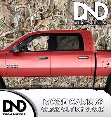 Camo Original Human Skull Rocker Panel Wrap Graphic Decal Kit Truck Camouflage