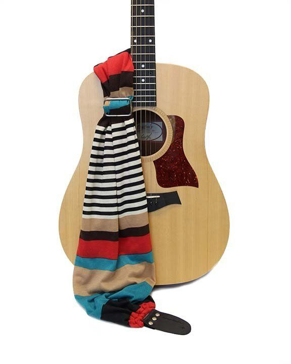 """CAPTURING COUTURE GUITAR STRAP RETRO SCARF  GTRSF-RTST 12 -14 W 45""""-60""""L"""