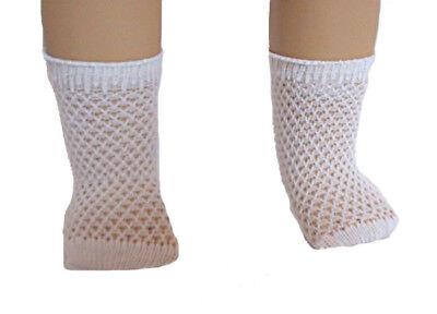 White Diamond  Design Ankle Socks Fits 18 inch American Girl Dolls