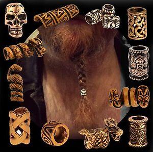 Hair Beard Bead Ring Bronze For Viking Celtic Northman