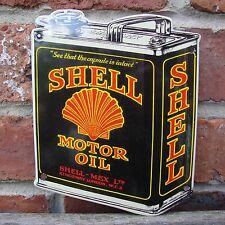 Shell Oil Can Enamel sign sign vitreous garage oil petrol gas MEDIUM VAC194