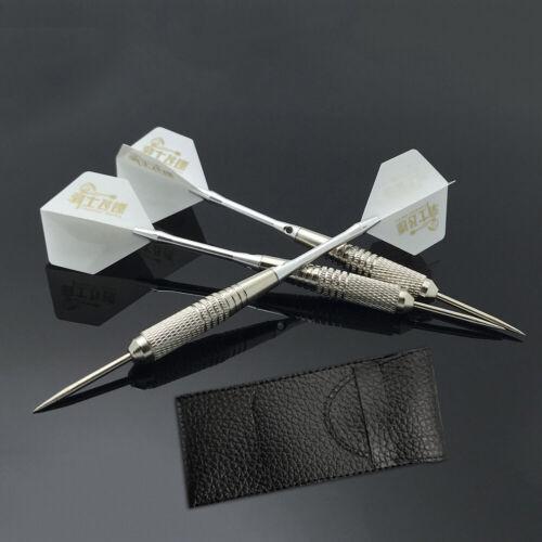 3pcs Set Dart Darts Tungsten Steel Tip+Shaft+Flight+leather Case Kit 8 Colors