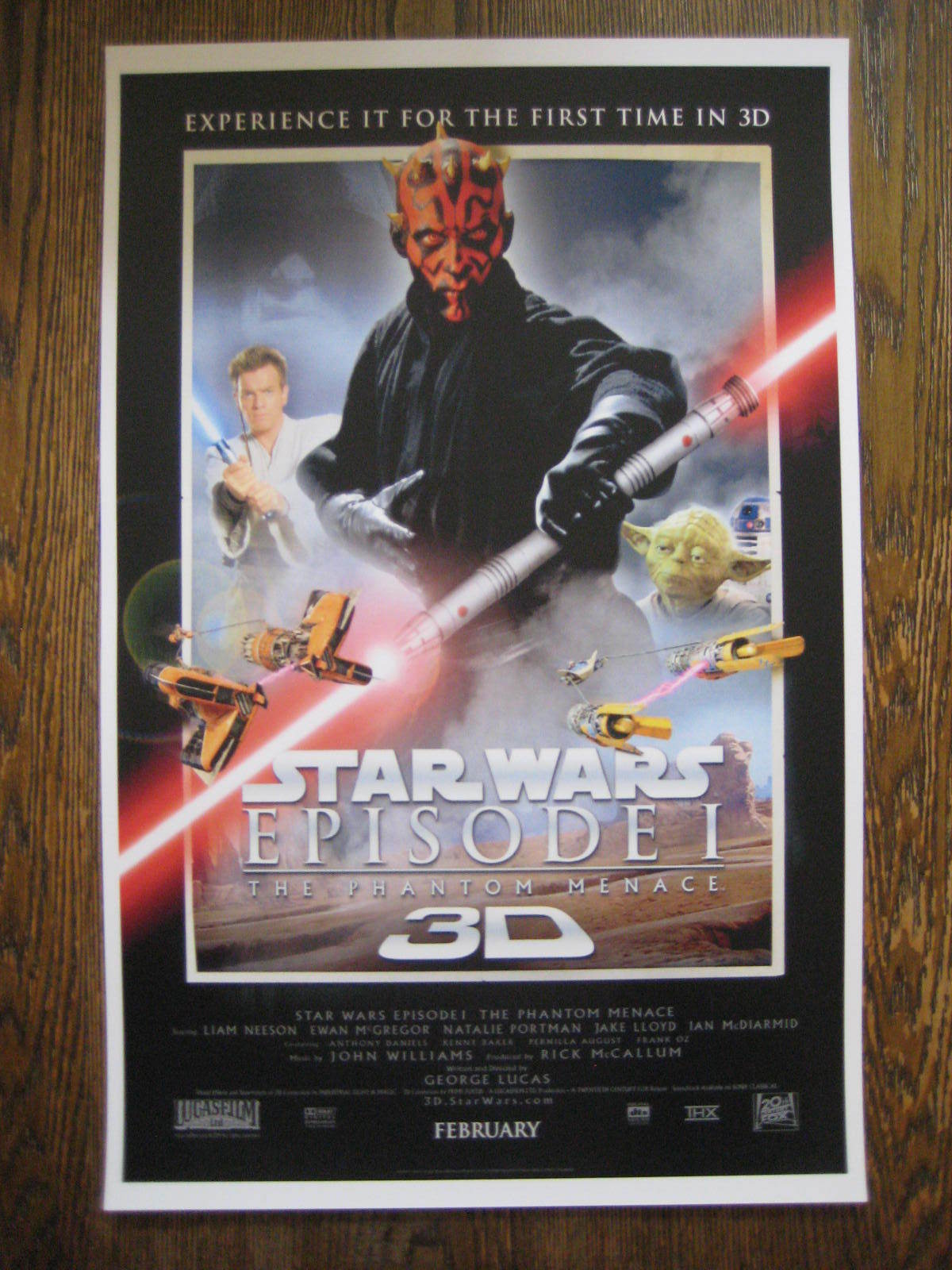 "- B2G1F Star Wars Phantom Menace Movie Collector/'s Poster Print 11/"" x 17/"" T9"