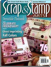 Scrap & Stamp Arts - 2005, Nov - Irresisible Postcards, Celebrate Friendship!