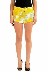 Just-Cavalli-Multi-Color-Embellished-Denim-Women-039-s-Casual-Shorts-US-4-IT-26